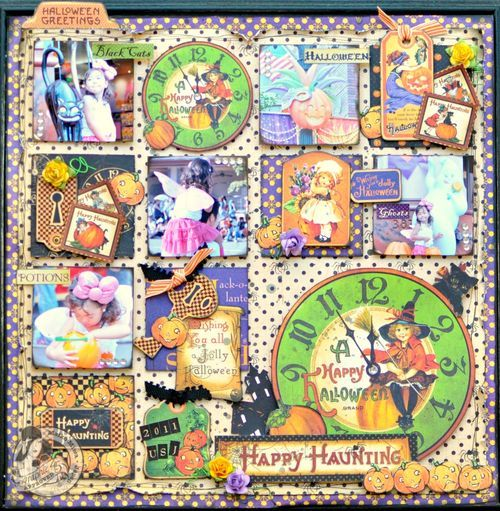 """Absolutely love this """"Blocking Layout"""" by @Maiko Miwa using Happy Haunting. Click the photo to get to the amazing tutorial! What a fun idea! #graphic45 #layouts: Cards Ideas, Halloween Layout, Graphics 45, Papercraft Scrapbook, Graphic45 Layout, Fun Ideas, Scrapbook Layout, Blocks Layout, Happy Haunted"""