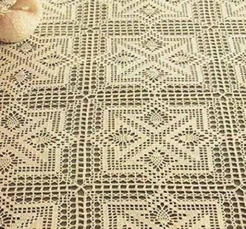 ergahandmade: Crochet Tablecloth + Diagram