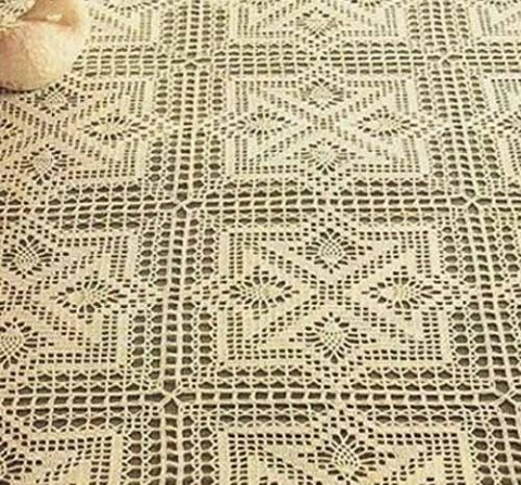 ergahandmade: Crochet Tablecloth + Diagram