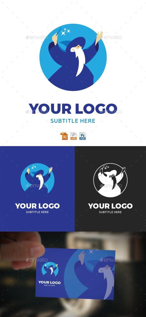 Wizard Logo for $30 - Envato #logo #GraphicRiver #LogoDesign