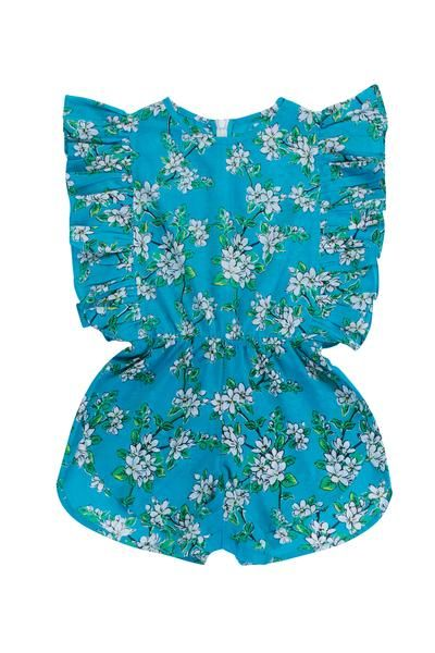 Delphine Playsuit Sea Glass Almond Blossom from this seasons S17/18 Coco de Mer Collection by Coco and Ginger.