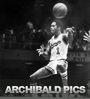 "Kings Legends: Nate ""Tiny"" Archibald - Archibald was selected by the Rochester Royals in the 1970 NBA Draft. With a career average of more than 18 points per game, Archibald proved his dual offensive potency when he became the first and only player in NBA history to lead the League in scoring and assists. During the 1972-73 season, at the age of 24, he cemented his legacy by averaging 34 points and 11.4 assists per contest."