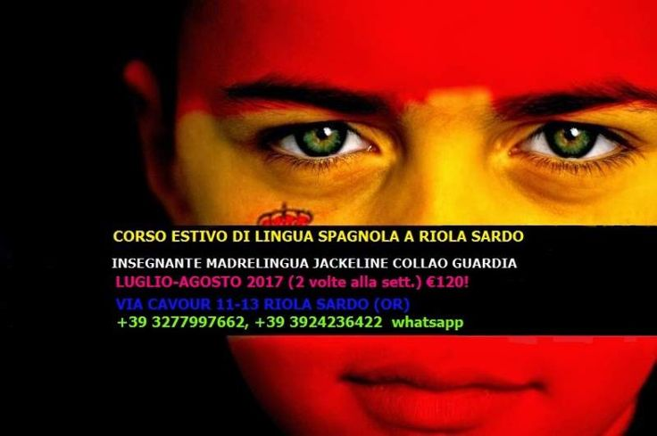 Corso estivo di lingua spagnola a Riola Sardo (OR) luglio-agosto 2017