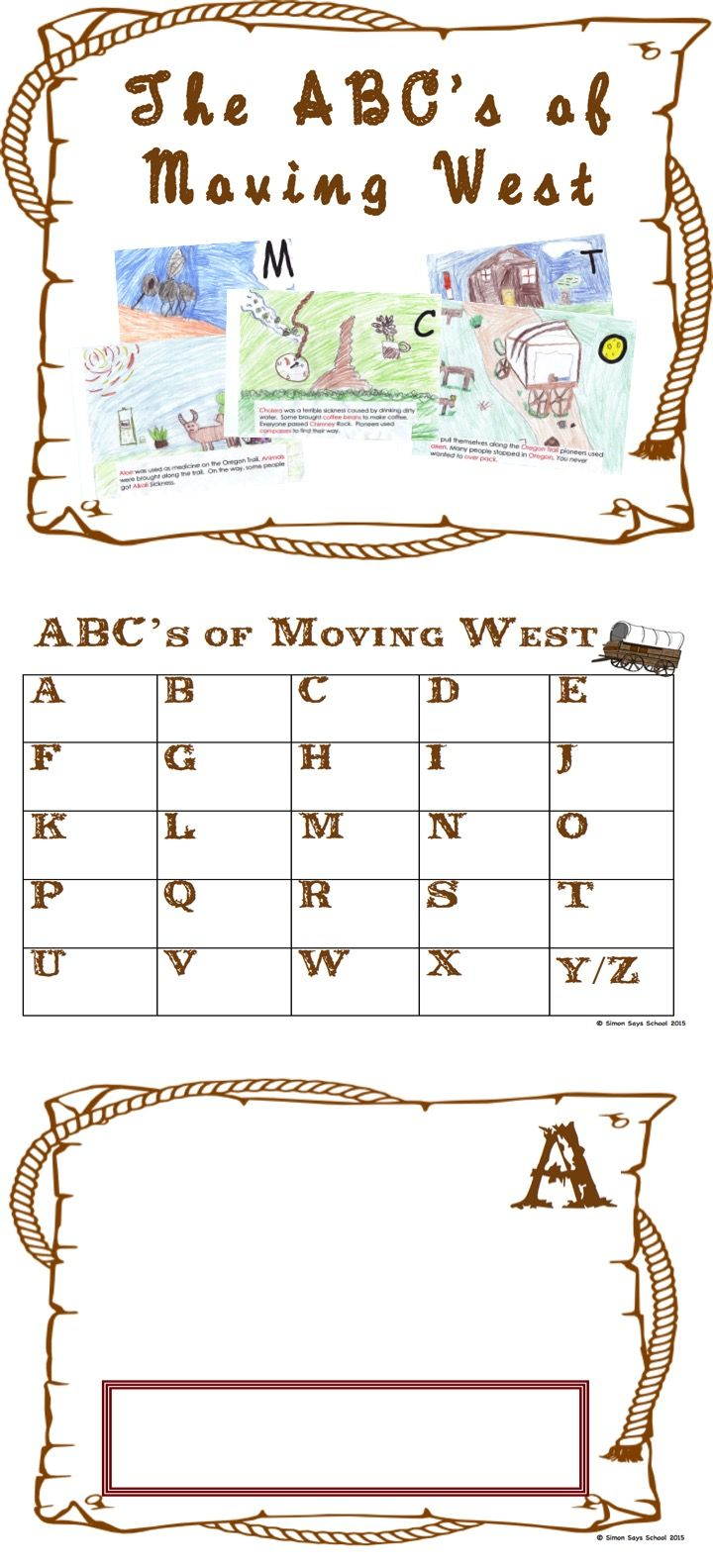worksheet Westward Expansion Worksheets 1000 images about westward expansion on pinterest american abc book students will love learning pioneers through this meaningful cross curricular