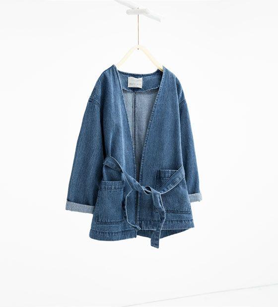 Afbeelding 1 van Denim jas van Zara