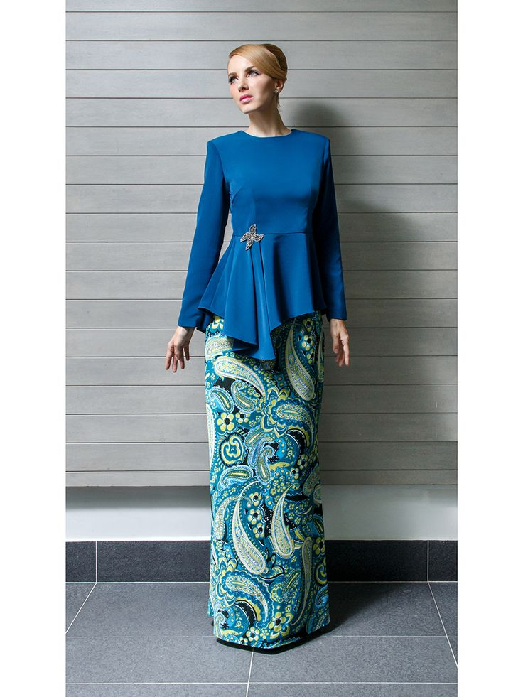 Modern Kurung with Asymmetrical Peplum
