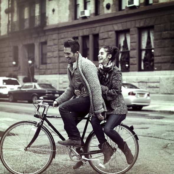 true love is riding bikes together