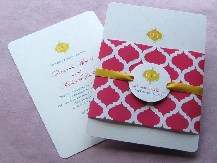 Indian Arch Wrap Invitation | Imbue You Wedding