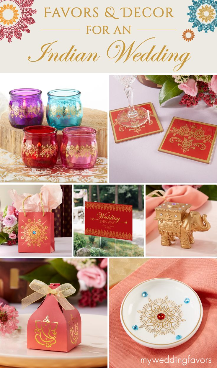 An Indian Wedding Calls For Vibrant And Colorful Decor From Elephant Trinkets To Henna Tea Ligh Indian Wedding Favors Wedding Party Favors Wedding Gift Favors