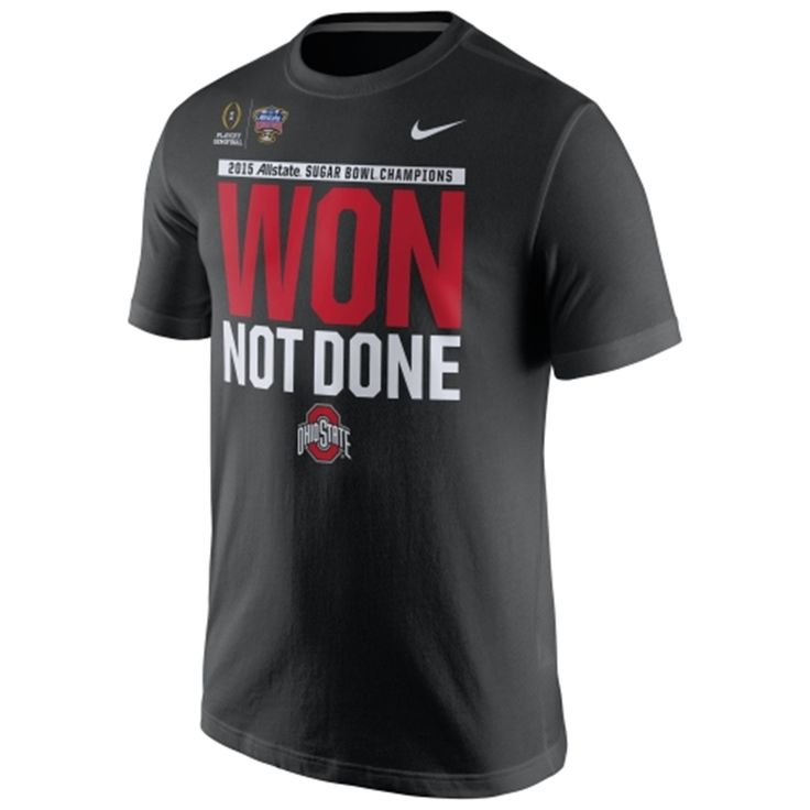 Ohio State Buckeyes Nike 2015 Sugar Bowl Champions Locker Room T-Shirt - Black