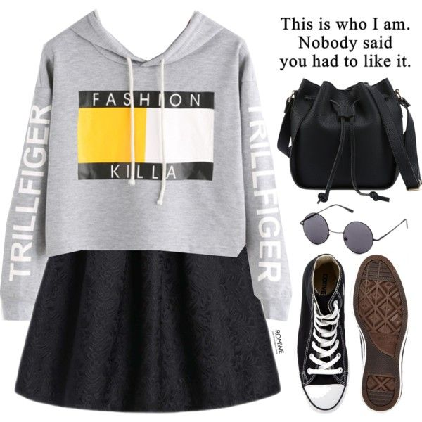 Romwe #8 VIII by oliverab on Polyvore featuring Converse, fashionista and romwe