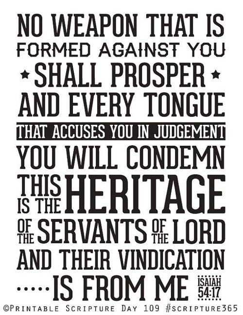 Isaiah 54:17 God is MY vindicator!