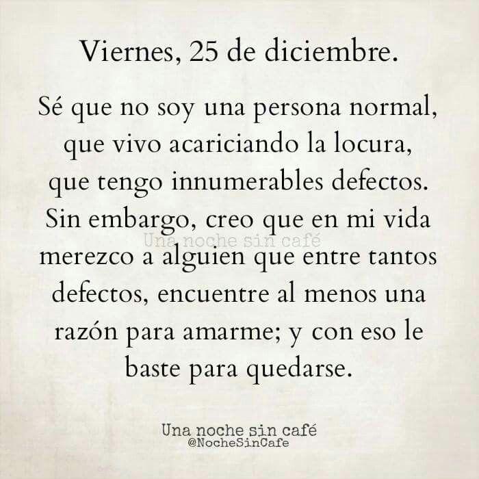 Sé que no soy normal
