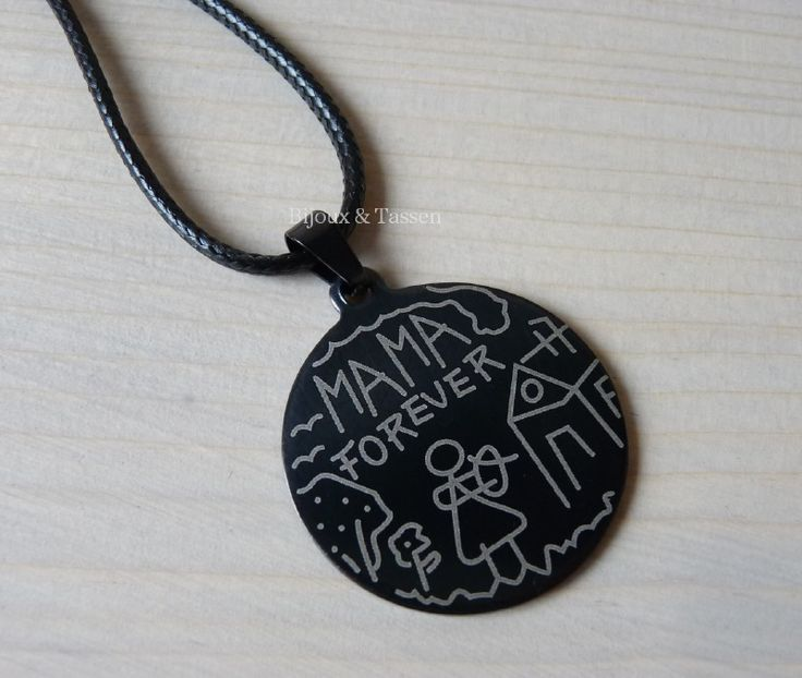 "Stainless steel ""Mama"" ketting"
