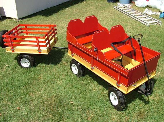 HUGE Kids Wagon and Matching Trailer for sale - picture only