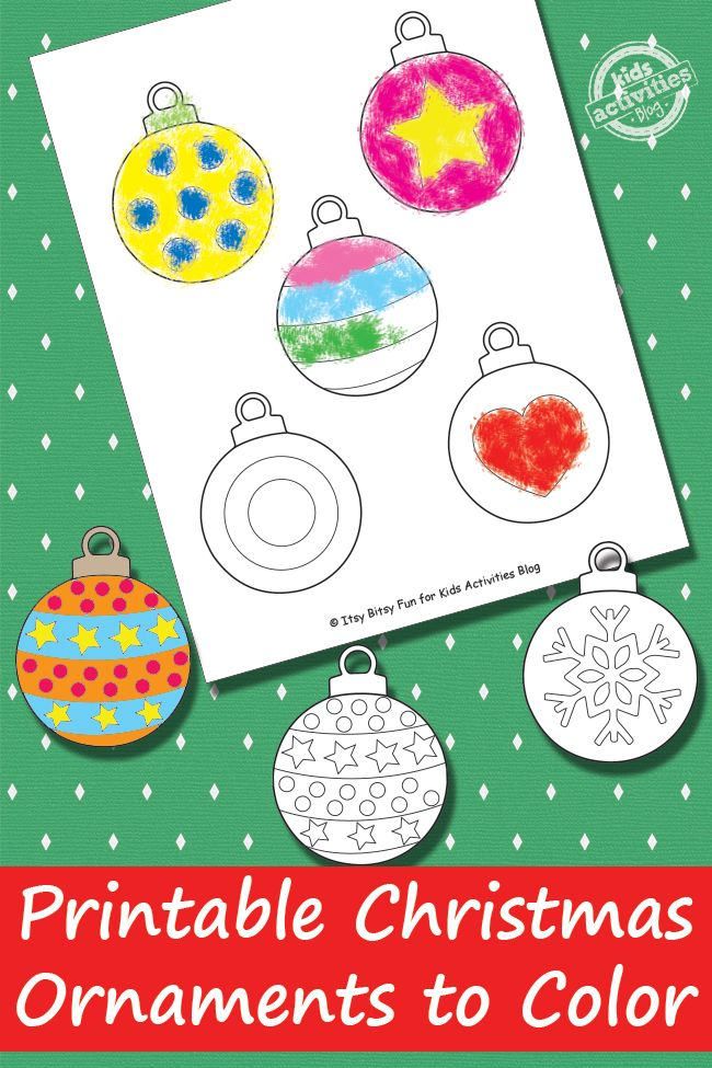 Free Printable Christmas Ornaments (DID IT! colored, cut, and hung in the window--easy fun)
