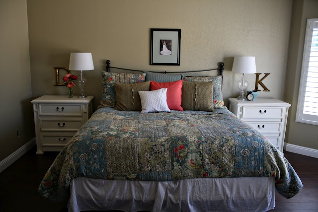 love the letters above the nightstands. Ive been wondering what to put above ours!