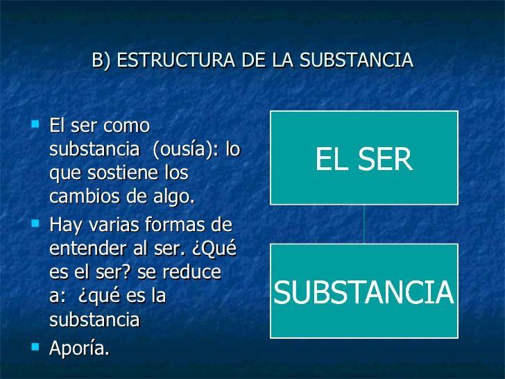 SUSTANCIA (Оὺσία) Metafísica, libro V, 8