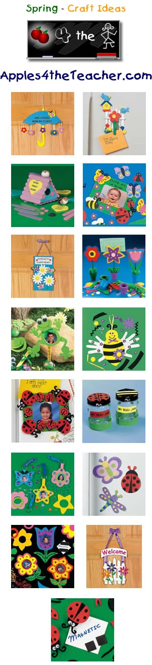 Fun Spring crafts for kids - Spring craft ideas for children. http://www.apples4theteacher.com/holidays/spring/kids-crafts/