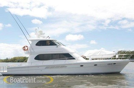 "2007 SALTHOUSE 57 - $1,490,000  ""WITCHDOCTOR"" 2 X Caterpillar 700hps, Fuel 4000lts, Water 1000lts,3 cabins, 2 dbl, 1 twin, 2 showers, 3 toilets (I cockpit?), fwd helm stn, internal stairs, alfresco, side by side fridge/freezer, desalinator 110Lph, 24kva genset"