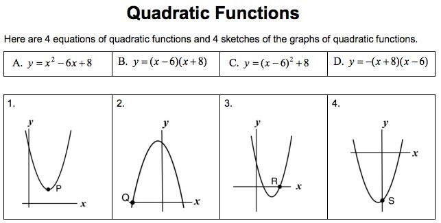 MARS - Quadratic functions activities