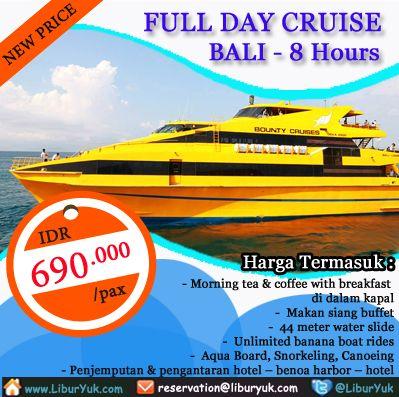 Yuk nikmati berpesiar di #Pulau #Nusa #Lembongan #Bali sekarang juga dengan menggunakan kapal Pesiar yang berfasilitas lengkap sekarang juga. Booking paket Full Day Cruise (by Bounty) dan dapatkan harga spesialnya, buruan sebelum kehabisan!  Dapatkan Spesial Paket tersebut dari #LiburYuk http://liburyuk.com/bookitem/10/2014-06-26/FULLDAY-REEF-CRUISE-by-BOUNTY-CRUISE-  #AbbeyTravel #jalan2 #holiday
