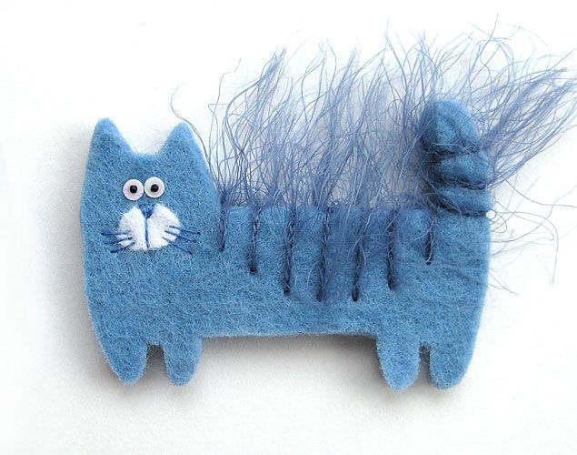 кошка-брошка - Perfect use for crazy yarn!