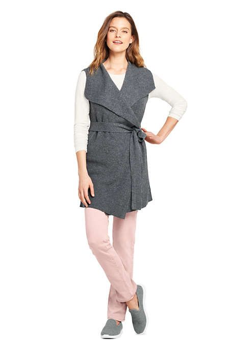 828046b85722 Women's Sleeveless Lofty Blend Tie Sweater Vest | Fashion | Sweaters ...