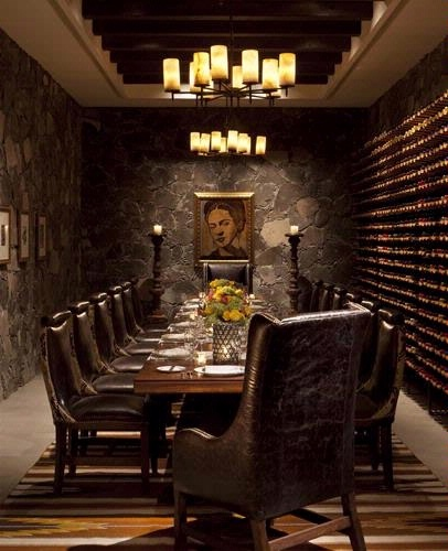 La Cava, where we had a fabulous six course meal with wine pairings at the elegant Rosewood hotel in San Miguel de Allende Mexico