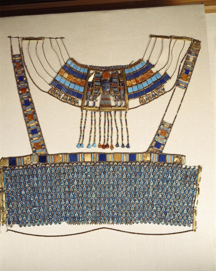 6. Ancient Egypt (c. 1333-1324 BC) corselet from Tutankhamun's tomb sourced from ARTstor