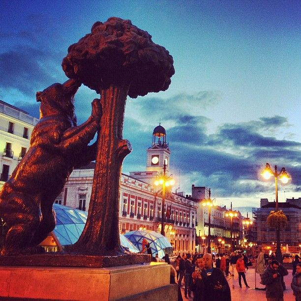 Puerta del Sol in Madrid, Madrid - Loved visiting this plaze, and museum, sigh, a week was not nearly enough to enjoy this city.