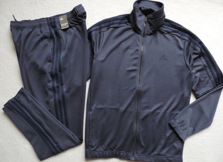 adidas Men's 3-Stripe Tiro 2-Piece Tracksuit, Blue  #adidas #TracksuitsSweats