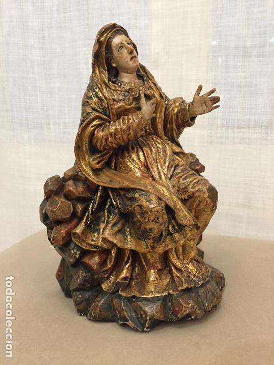 ee5e0566f1d Arte  Talla de Virgen Dolorosa en madera policromada de época barroca