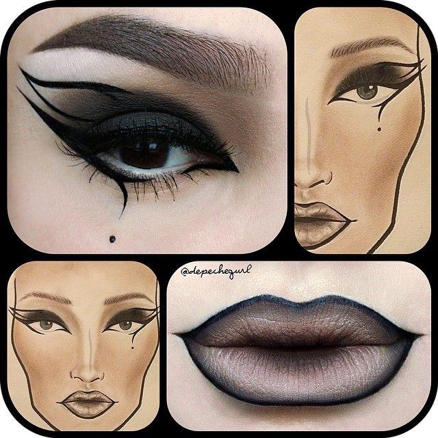 Картинки макияжа в схемах