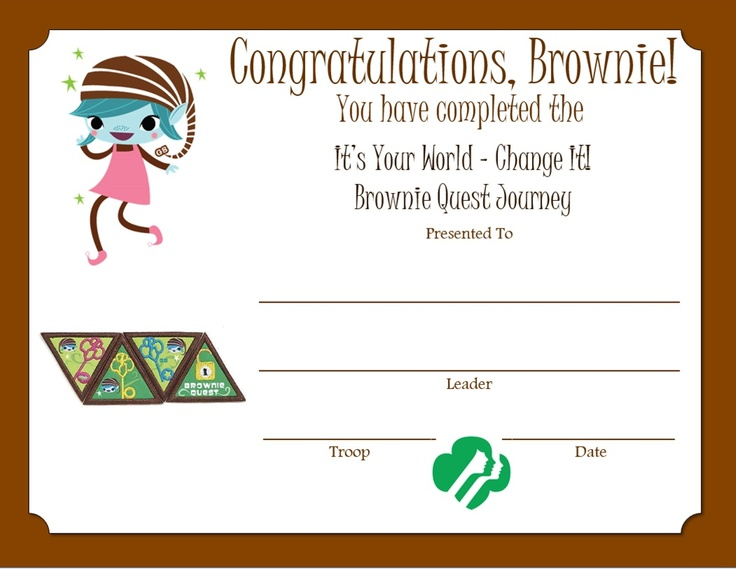 Brownie Quest Journey Certificate -- http://media-cache-ec4.pinimg.com/originals/10/83/11/108311f08d4840e1bb418e72aa172cdb.jpg