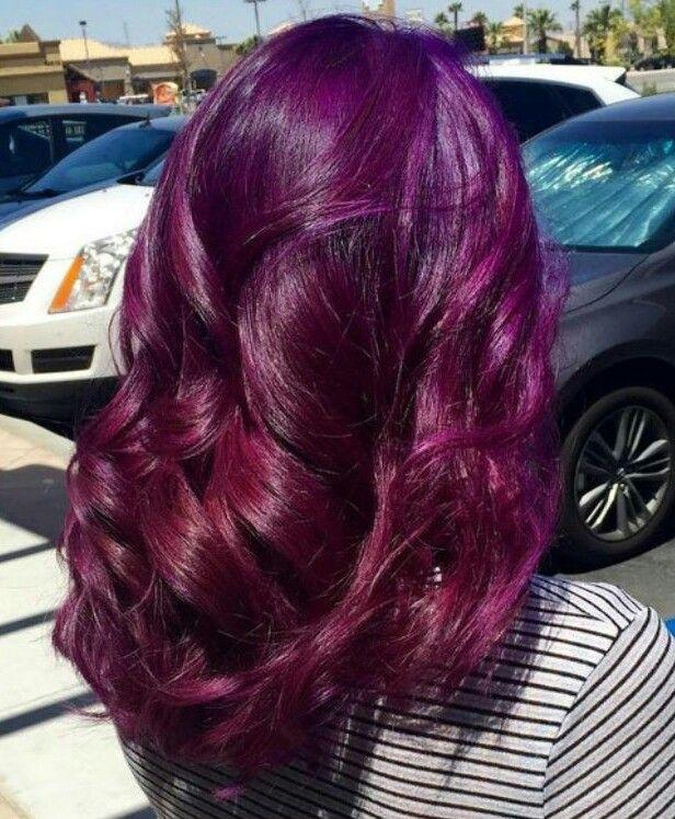 Plum Purple Hair Color Hair Color Plum Burgundy Hair Hair Styles