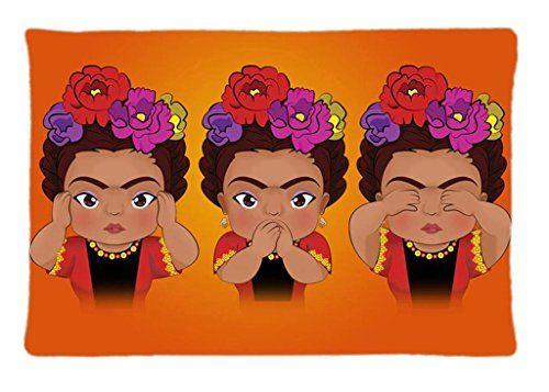 Frida Kahlo Print Sofa Home Decor Design Throw Pillow Case
