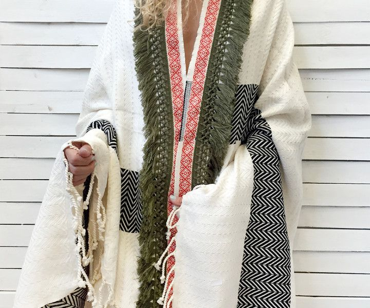 HERRINGBONE CAPE beach peshtemal- latte | Cleo Gatzeli  http://www.cleogatzeli.com/product-category/beachtowels/peshtemals/page/2/