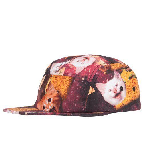 Space Katz Mens 5 Panel Hat in cats and taco @kittypurring $11 #hat #cap #kitties #kitten