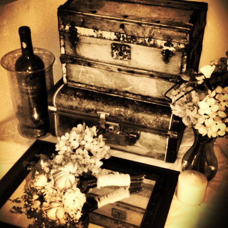 Vintage decor with trunks