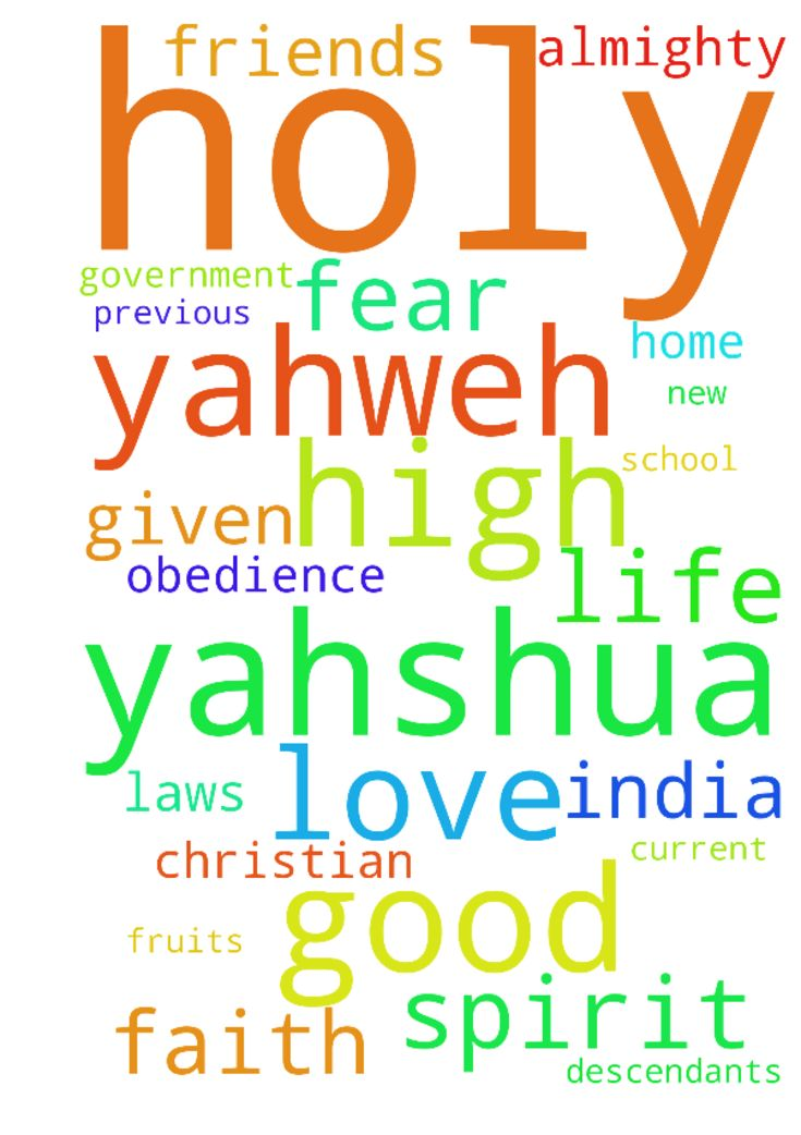 Dear Prayer Warriors of faith,  We request you in name - Dear Prayer Warriors of faith, We request you in name of the Holy Lord Yahshua, to humbly seek the Holy Lord for quick approval of all my pleas, as follows, at the the Holy Lord Most High Yahweh�s and Holy Lord Yahshua's feet: 1.      Please pray Mr & Mrs. John, Mr & Mrs Solomon and their families, their relatives, friends, well wishers, the Jews and their descendants : To walk upright with perfect obedience with clear conscience…
