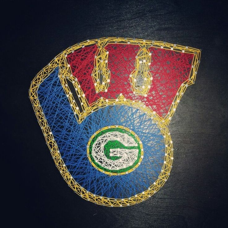 String art celebrating all things Wisconsin Milwaukee Brewers Green Bay packers UW Madison Badgers