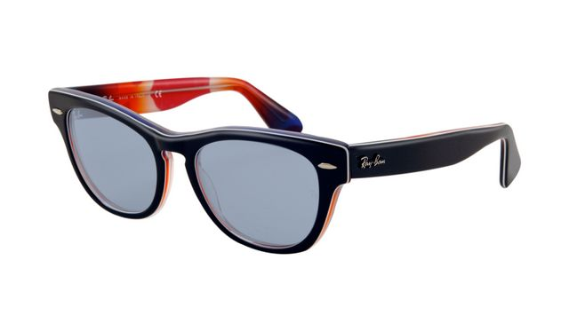 Ray Ban RB4169 Sunglasses Black Frame Crystal Sky Blue Lens