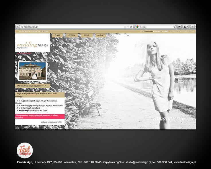 Website Layout + images, website dedicated to wedding photography weddingnow.pl