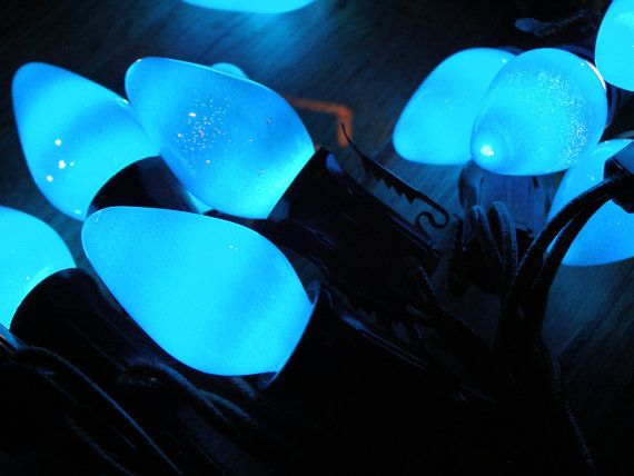 Vintage Paramount Blue Christmas Lights 10 Feet by MyHeartsHome, $12.00