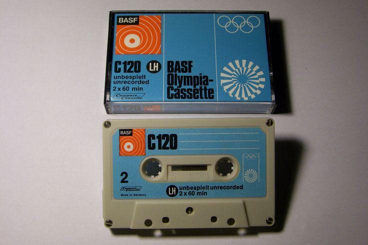 BASF OLYMPIA VINTAGE AUDIO CASSETTE TAPE C-120 ( NEW )( TYPE I )(1972 )(GERMANY) #BASF
