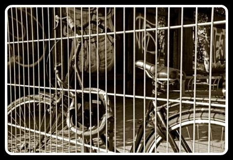 prisoner on a bicycle - now here is a bicycle in the dungeon