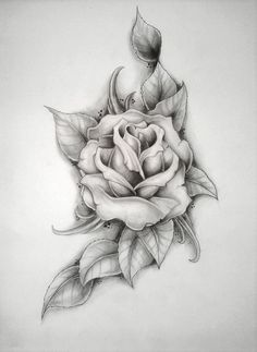 rose (Mercyys birthday) by ~ritubimbi on deviantART ...If I did two of these to make a bed of roses underneath the tags? maybe had the artist do more with the tags too. I want it to look feminine!