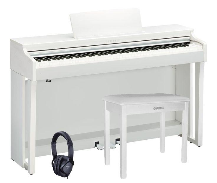 Piano numérique Clavinova Yamaha CLP625 blanc livré avec banquette Yamaha et casqueJuste en appuyant sur une touche, vous accédez à l'univers fabuleux de deux pianos de concert de renommée internationnale. La série CLP-600, vous offre bien plus que d