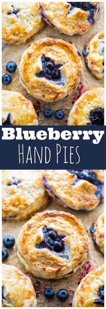 Sweet and Simple Blueberry Hand Pies! Perfect for serving a crowd. Step-by-step photos make it easy!